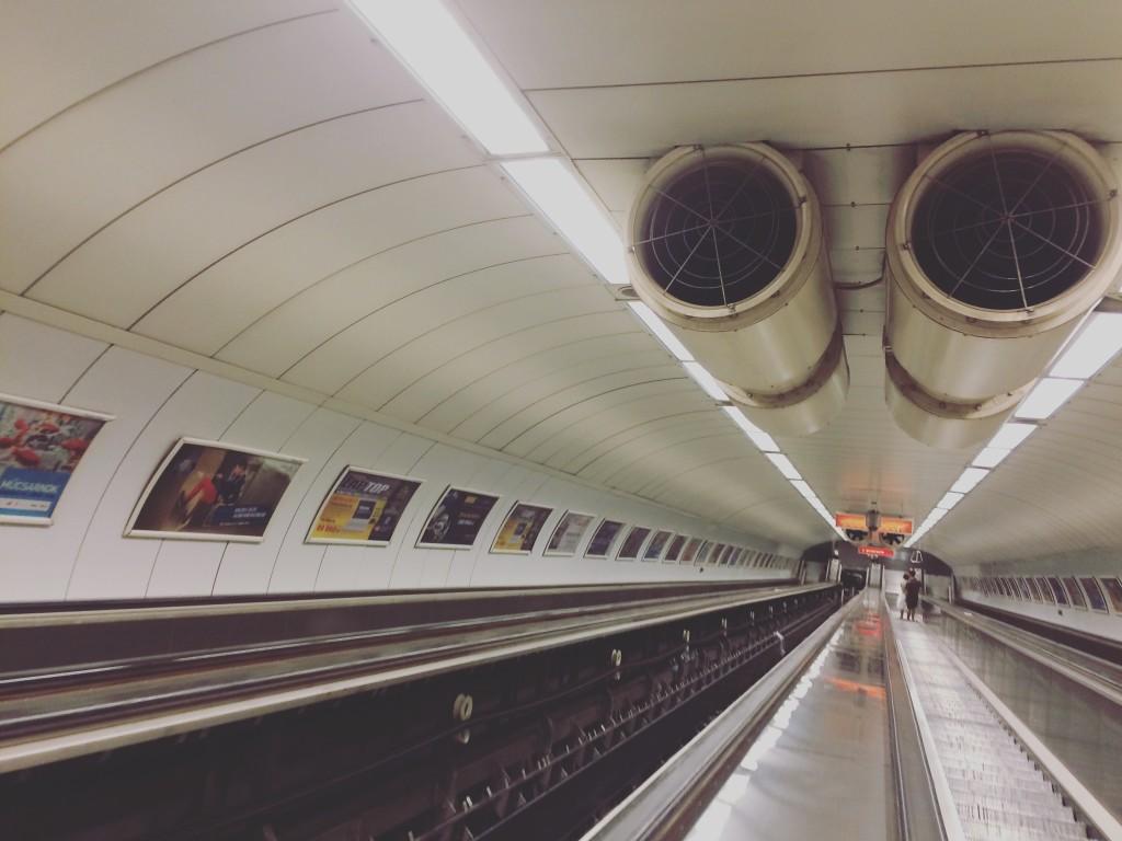 Futuristic feels in Budapest's metro