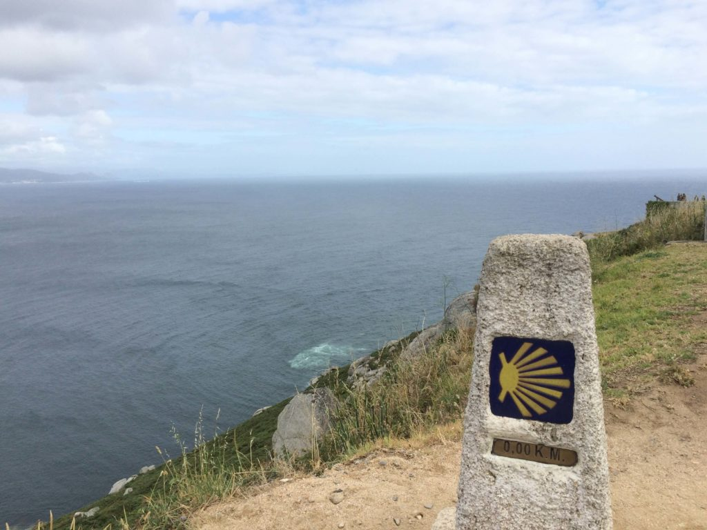 Kilometer Zero at Finisterre, along Costa da Morte