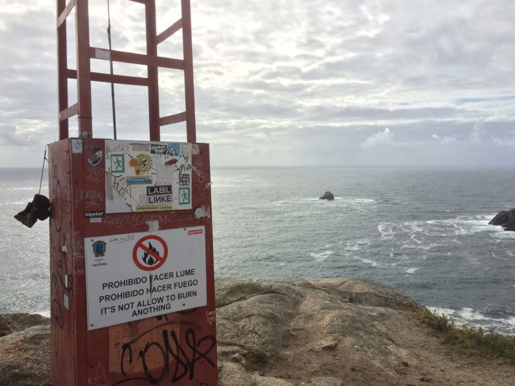 No setting things on fire at Cape Finisterre
