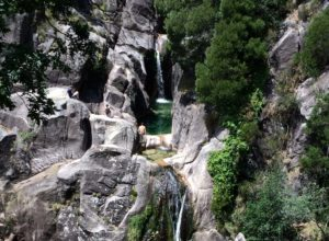 Cascata do Arado, a waterfall in Peneda Geres National Park