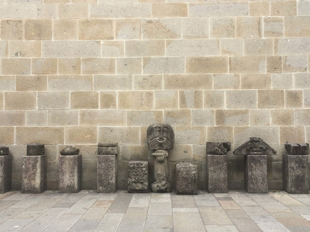 Relics outside the Braga Cathedral