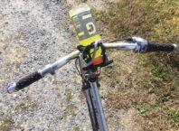 Makeshift bottle holder - CBES Between the Waters Bike Tour