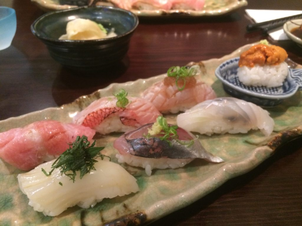 Premium choice omakase menu at Tetsu Sushi Bar